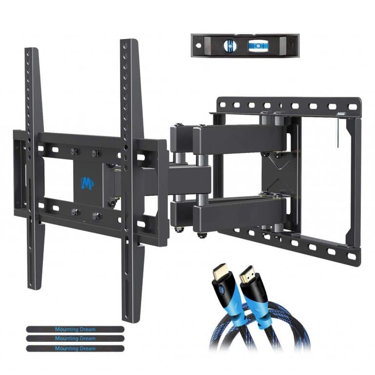 TV Mount with Center Design Max VESA 400x400mm and 66 lbs TV Wall Mount Bracket for Most 28-55 Inch TVs BLUE STONE Full Motion Tilt TV Bracket with Swivel Articulating Arm