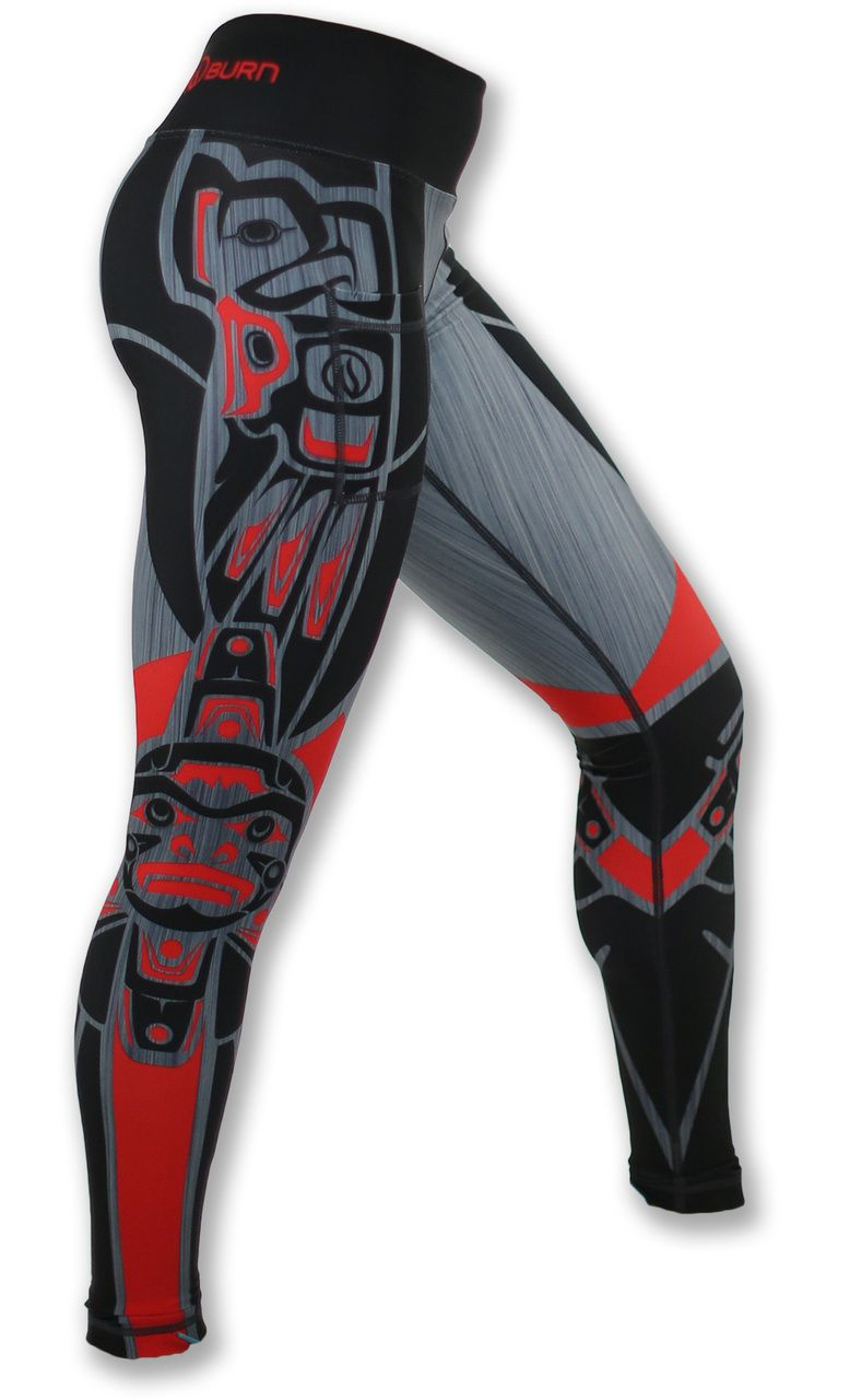 Red /& Black Haida Yoga Capris