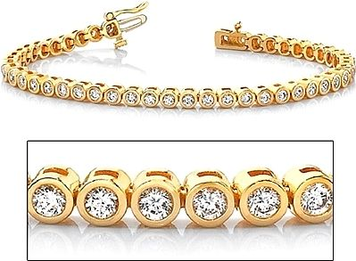 Rose Gold Lab Diamond Tennis Bracelet