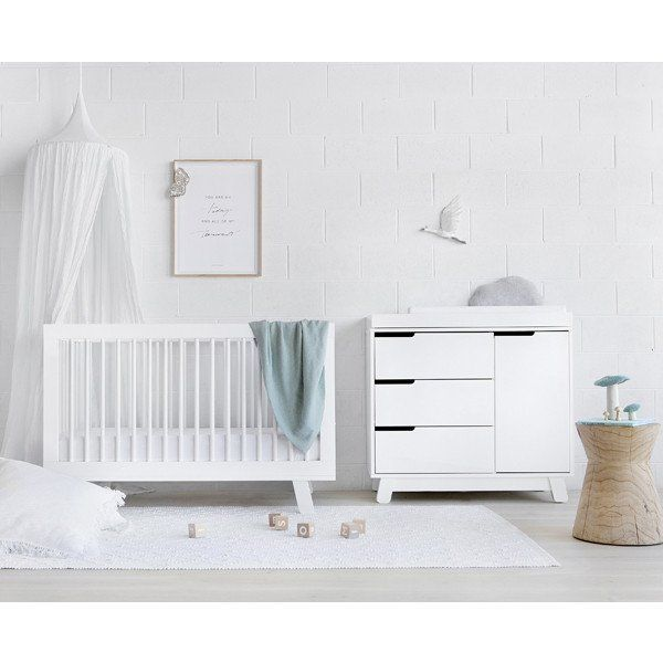babyletto hudson cot and change table package white