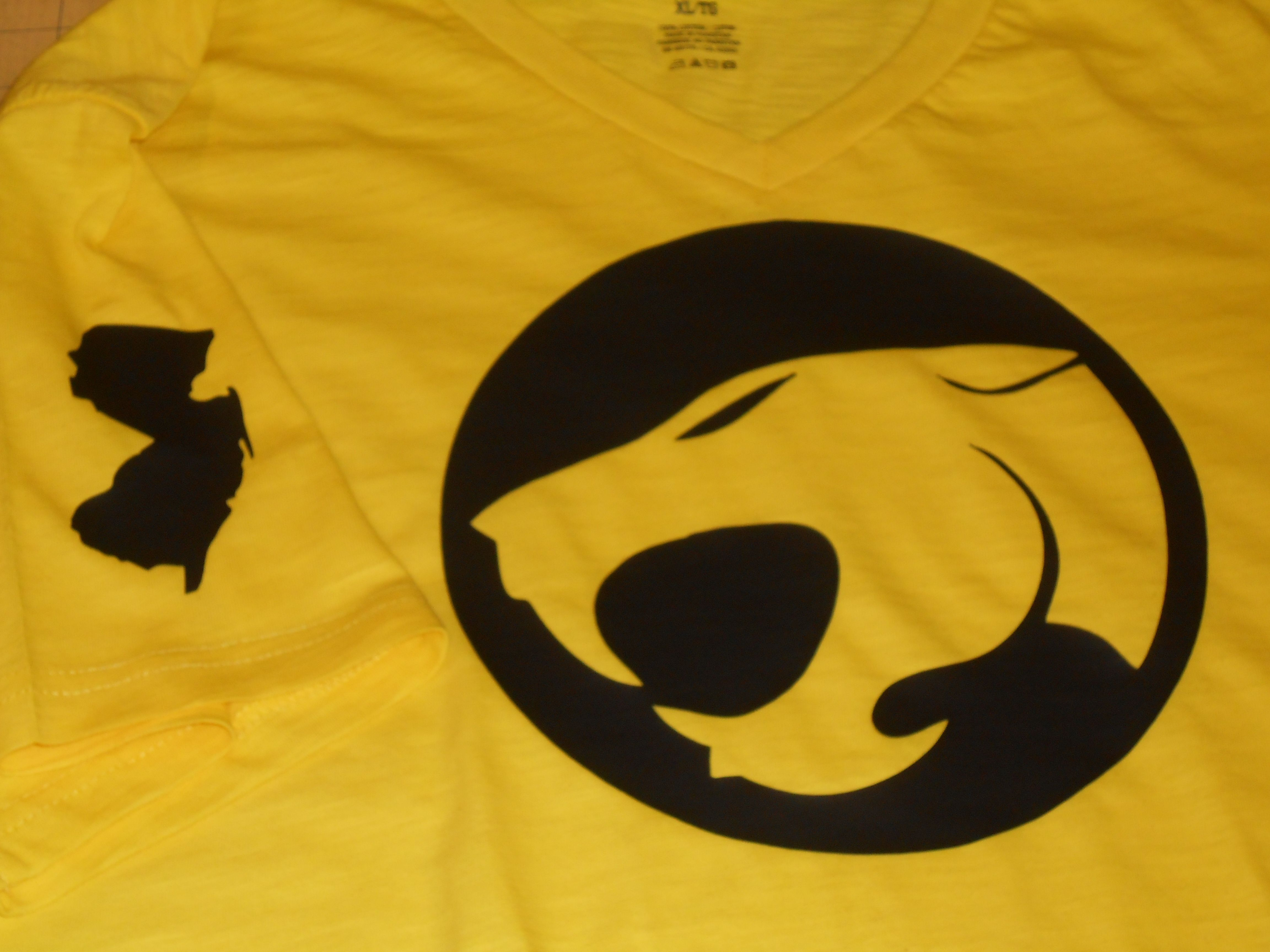 Custom made thundercats front with new jersey logo black