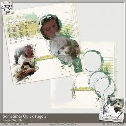 Quick Pages the Easy Way with Photoshop | Digital Scrapbooking Headquarters - Digital Scrapbook Pages