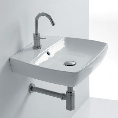 WS Bath Collections H10 50W Rectangular Wall Mount Bathroom Sink - H10 50W - 8109101