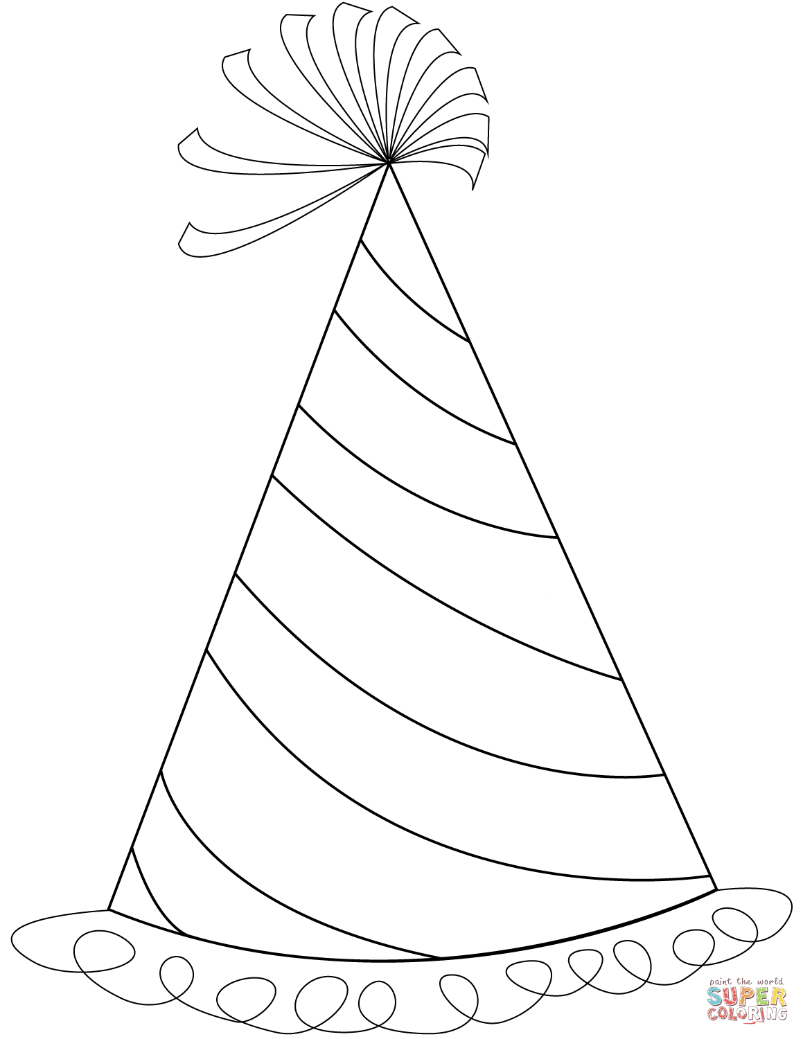 Birthday Hat Coloring Pages Birthday Hat Coloring Pages Birthday Party Hats