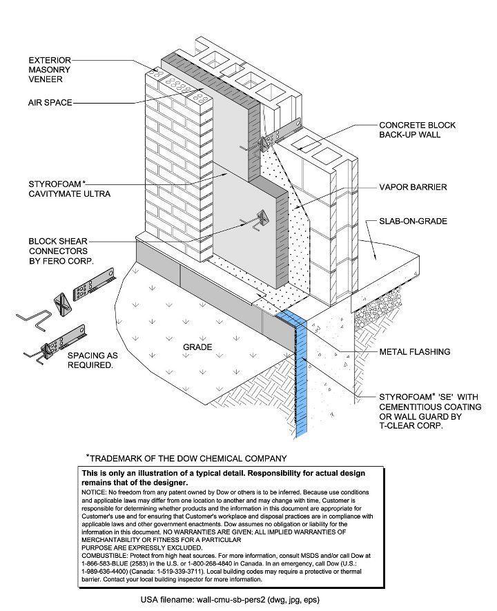concrete brick construction details