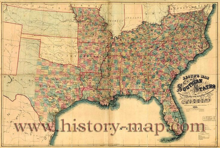 Map Of The Confederate States Lloyd S Map Of The Southern States