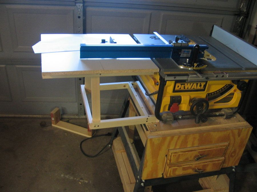 Dewalt table saw extension by jerrells lumberjocks dewalt table saw extension by jerrells lumberjocks woodworking community greentooth