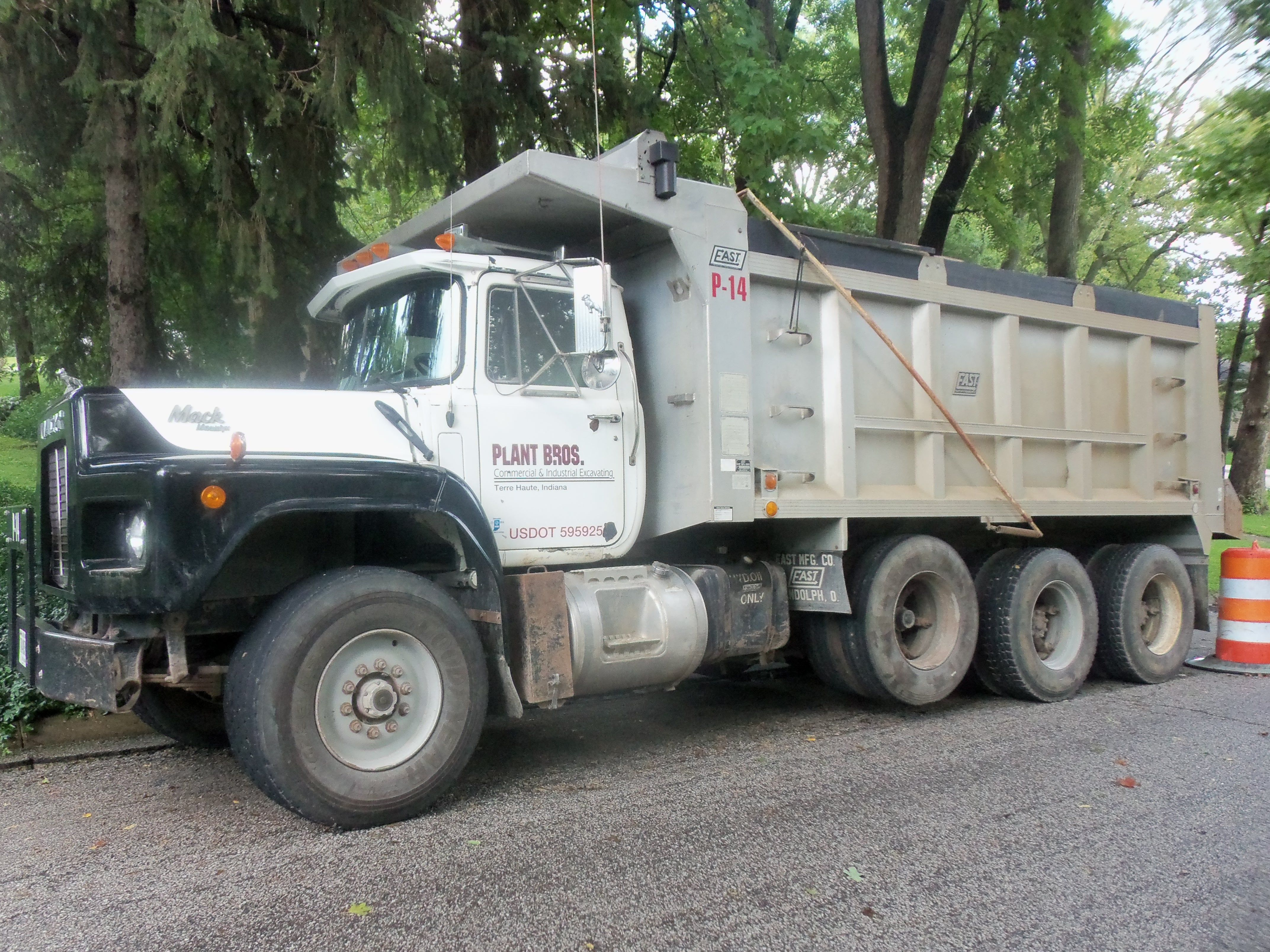 Tri Axle Garbage Truck : Mack tri axle dump truck on sunset st my