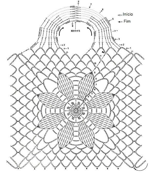Bolsa tejida al crochet con patrones - Manualidades Y ...