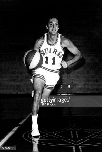 Larry Brown Of The Squires Of The Aba League Dribbles Up Court During
