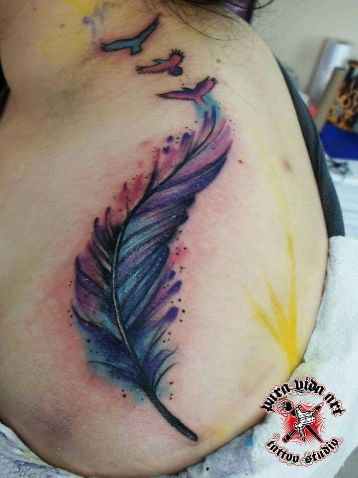 Aquarela tattoo color