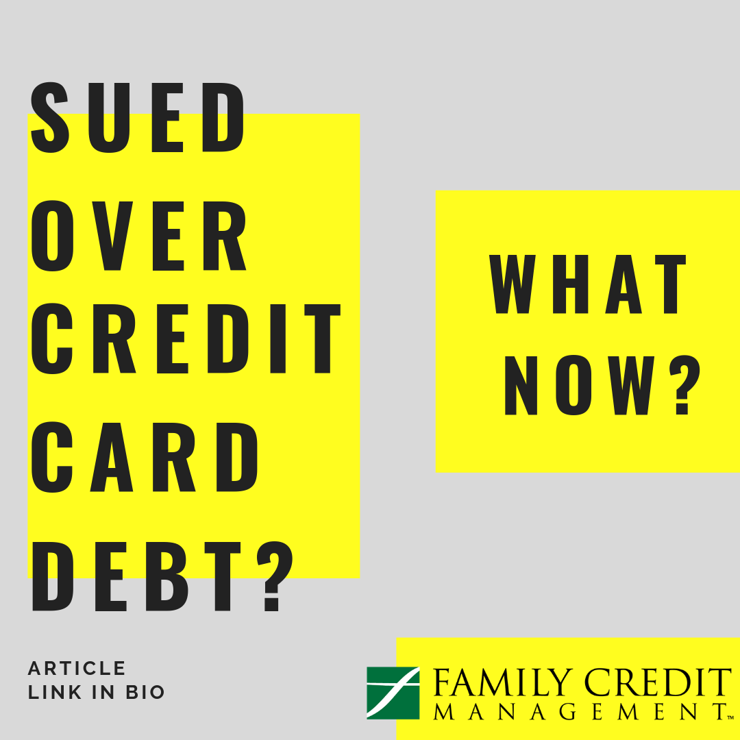 what to do when credit card sues you
