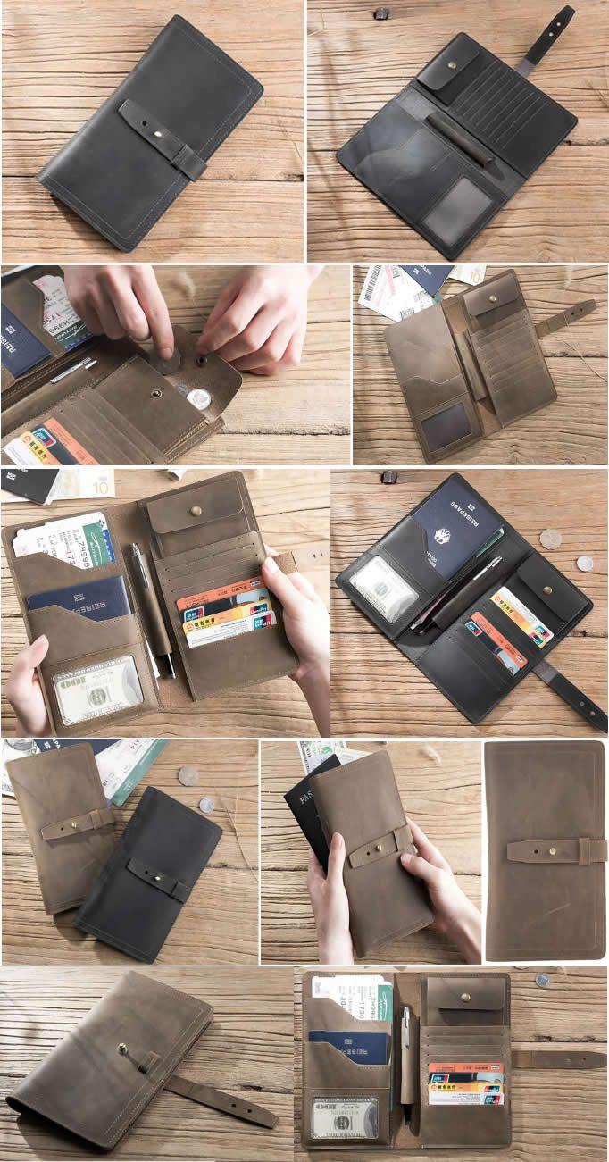 Handmade Cow Genuine Leather Travel Business Portfolio Bag ...