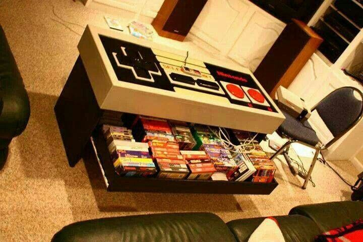 This Storage Coffee Table Gamer Room Video Game Rooms