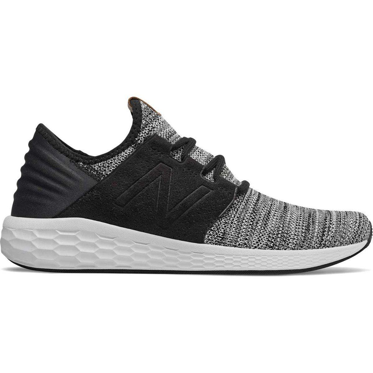 Sportowe Meskie Newbalance New Balance Mcruzkw2 White With Black Running Shoes For Men New Balance Leather Wedding Shoes
