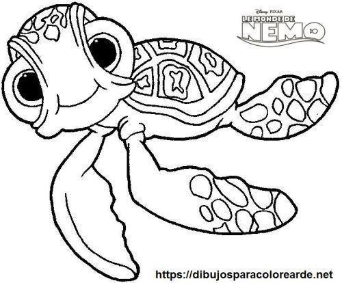 Tortuga Nemo Para Colorear Dibujos De Animales Tiernos Dibujos