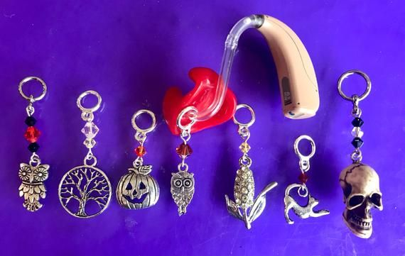 Fall Fun Hearing Aid Accessories or Cochlear Implant Accessories (Charms or Earrings)