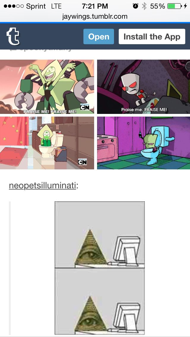 Invader Zim And Steven Universe Both Have Aliens X Files Theme Music Steven Universe Memes Steven Universe Invader Zim