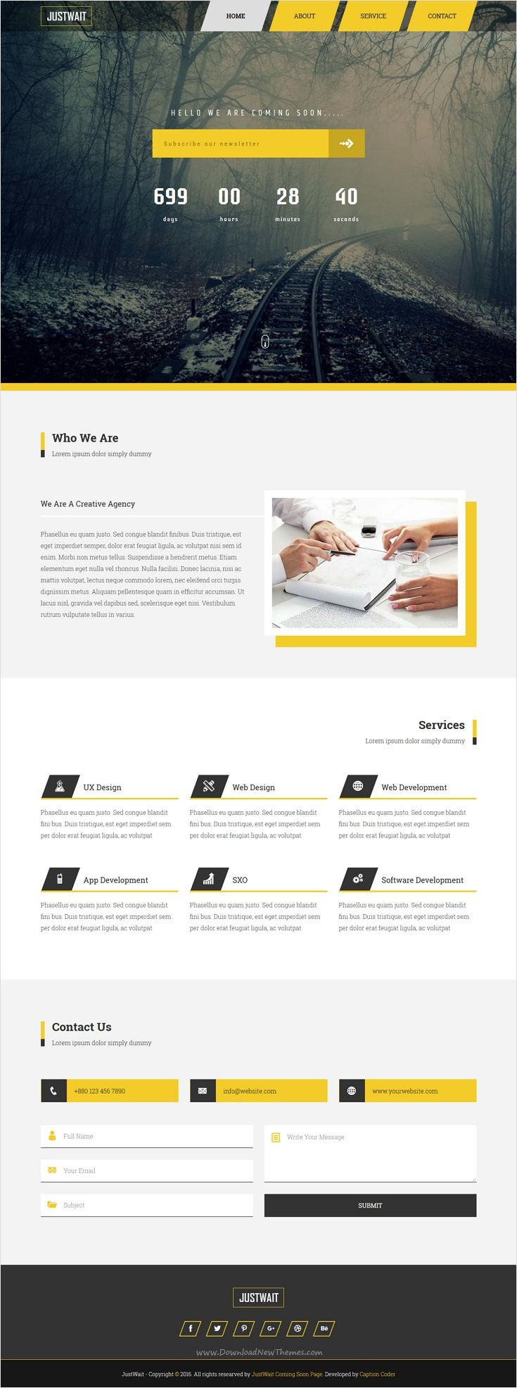 JUSTWAIT is the clean #comingsoon premium @bootstrap #template for ...