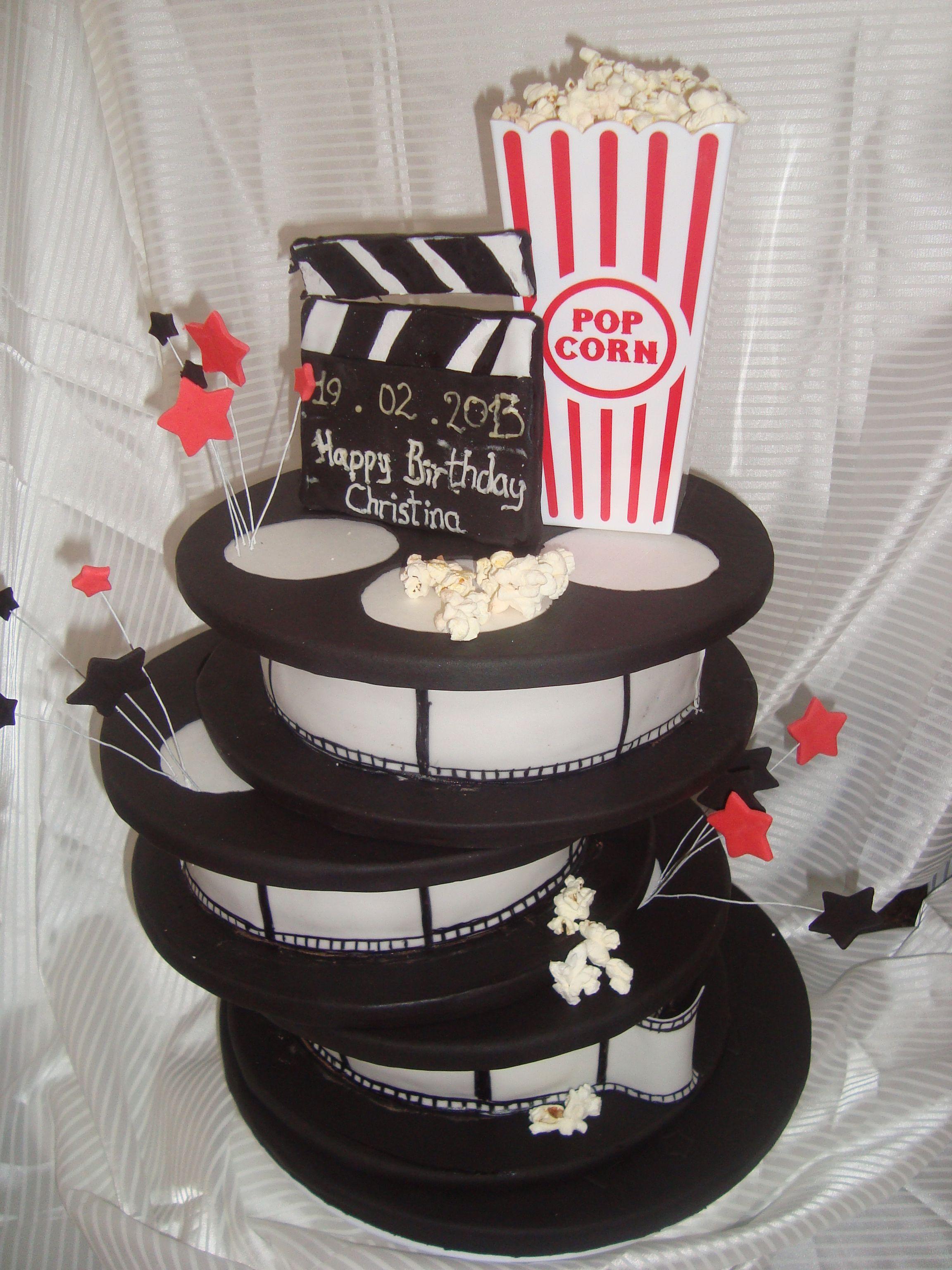 Movie Themed Party. Paint Ribbon Spools