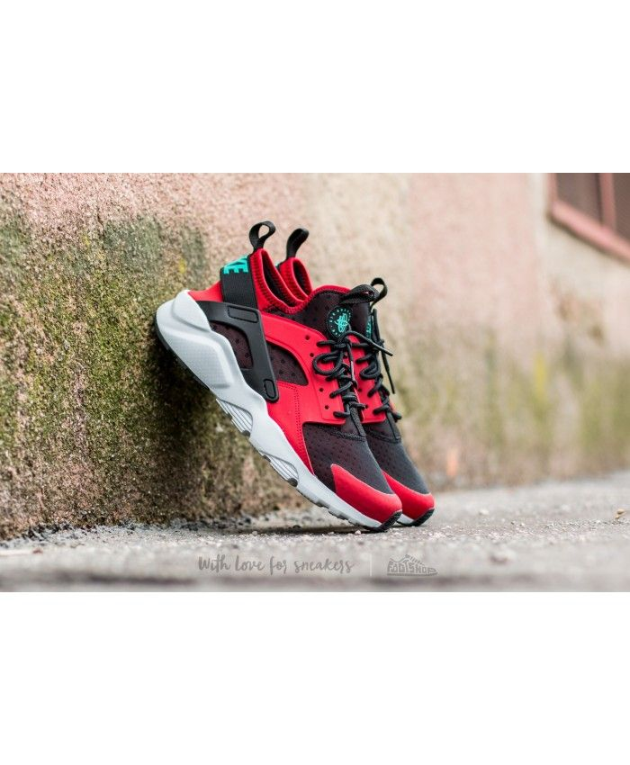brand new 9886c 9e135 Nike Air Huarache Run Ultra Gym Red Clear Jade Black Pure Platinum Trainer  From the appearance of the color is very beautiful. Is this style is a very  good ...
