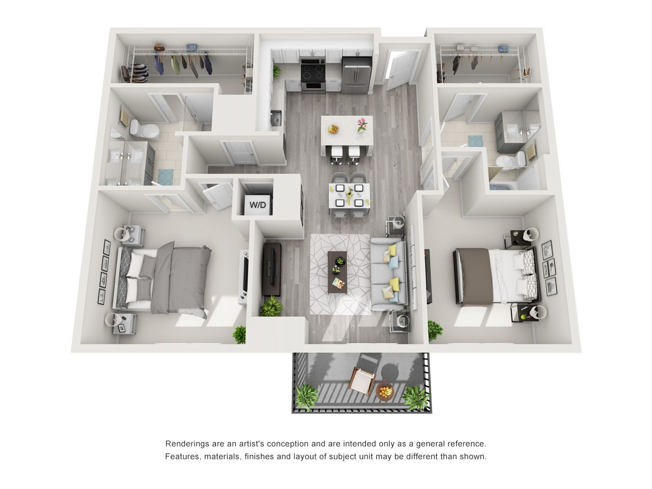 Pin by Icon Harbour Island Apartments on One Bedroom
