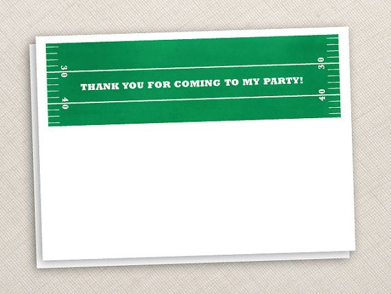 football thank you notes