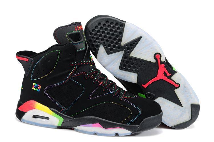 New Nike Air Jordan 6 Mens Shoes in Black and Red, cheap Jordan If you want  to look New Nike Air Jordan 6 Mens Shoes in Black and Red, ...
