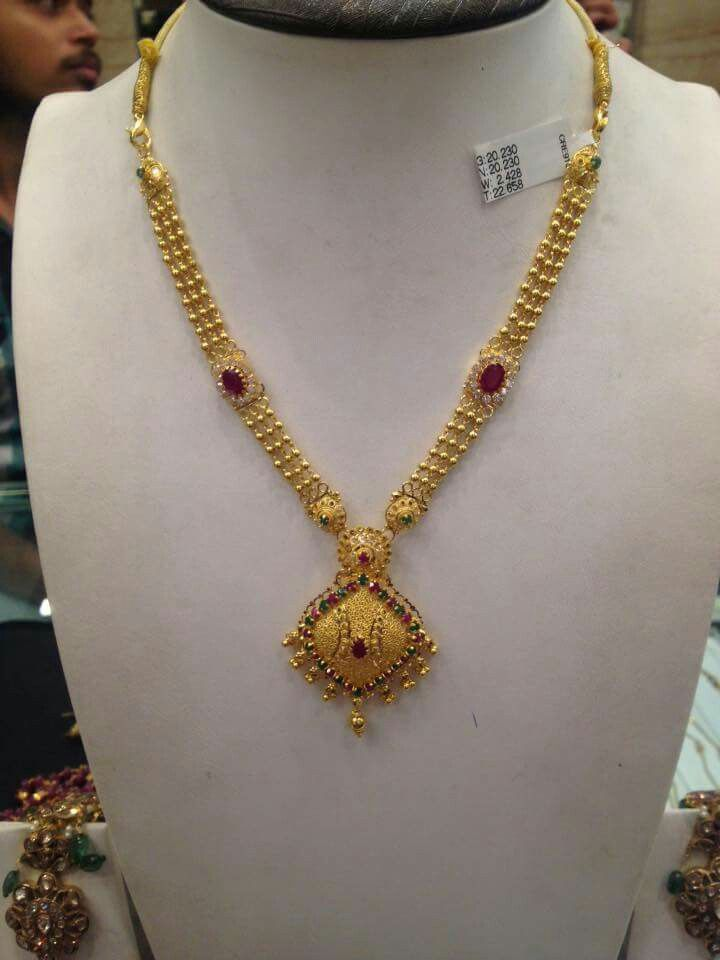 Pin By Usha Padmini On 10 To 20 Grams Gold Necklace Designs Gold Necklace Shop Gold Jewelry Simple Necklace