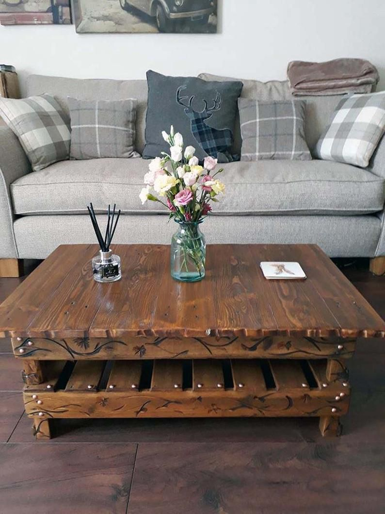 Country Cottage Farmhouse Reclaimed Wood Coffee Table
