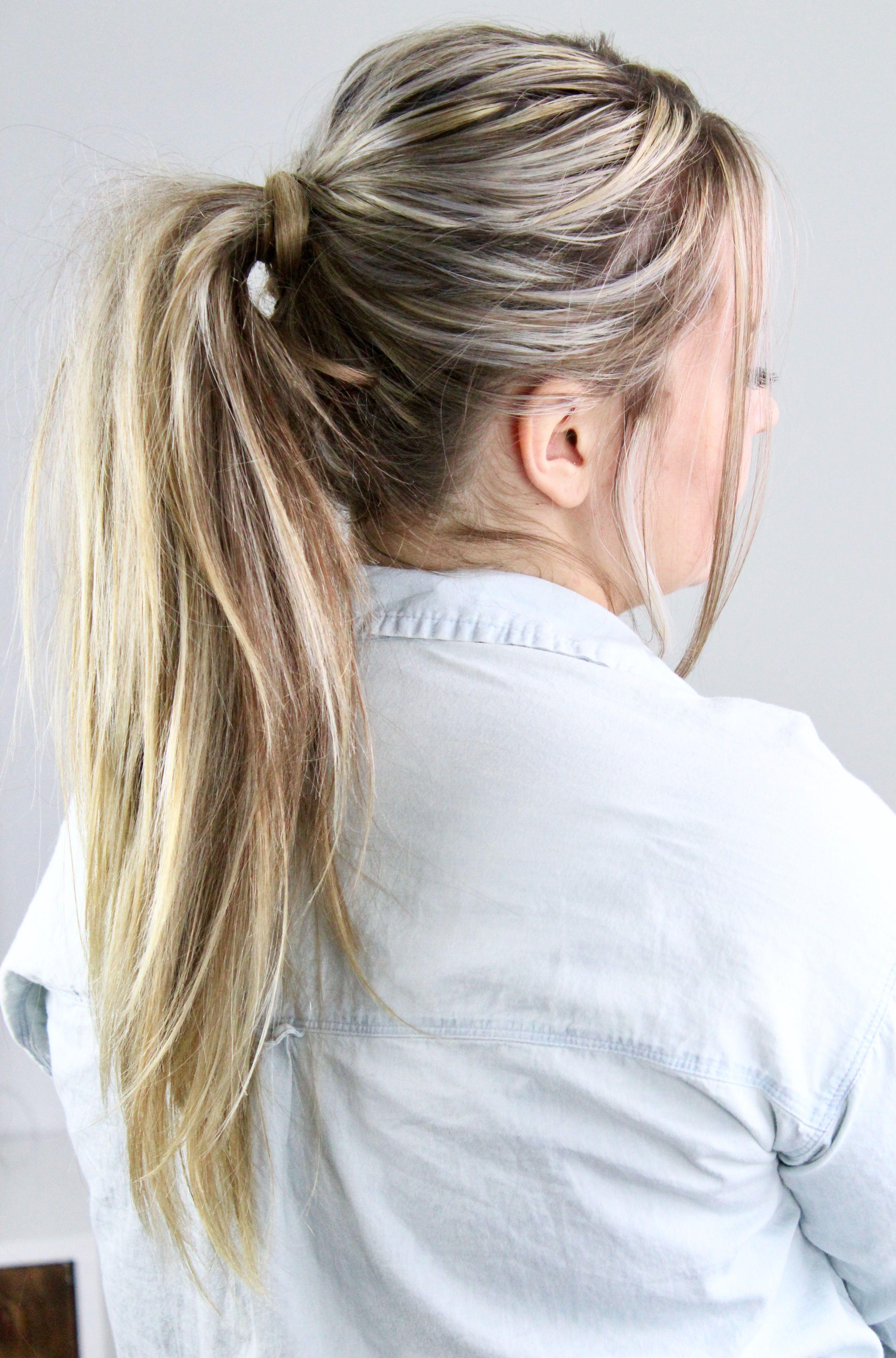 Side swept voluminous fishtail ponytail tutorial fishtail ponytail