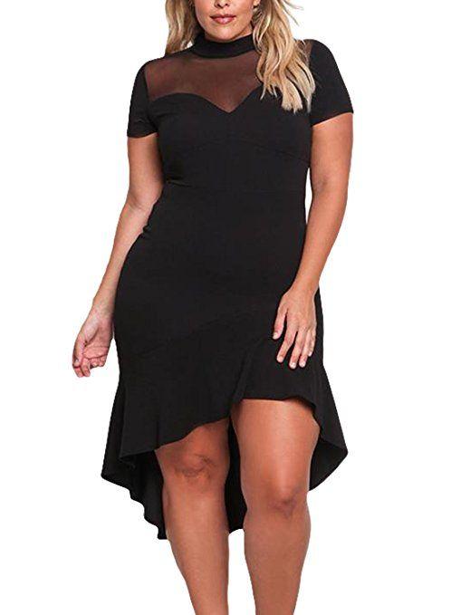 11 Plus Size Short Black Dresses For Fashionable Outfits Short