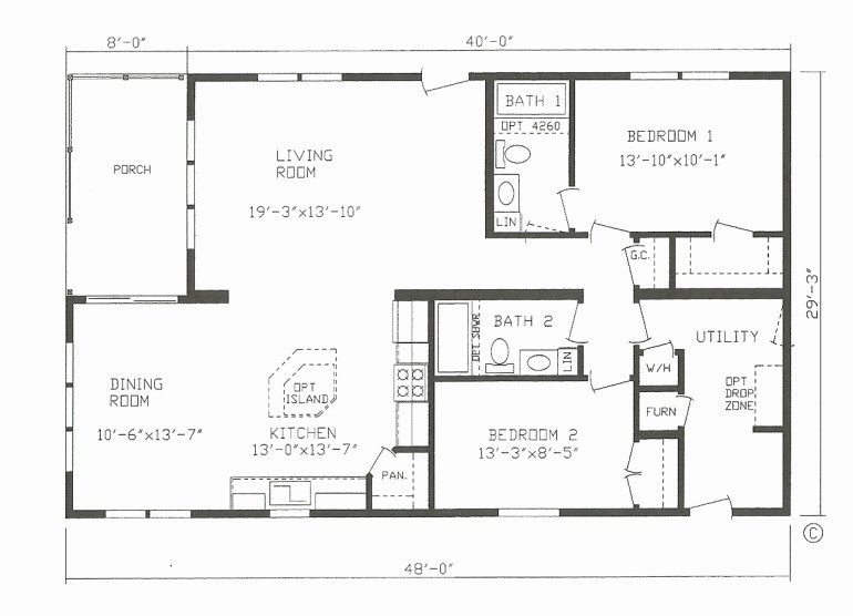 30x40 Barndominium Floor Plans 2 Bed 2 Bath Harpmagazine Com Modular Home Plans Mobile Home Floor Plans Barndominium Floor Plans