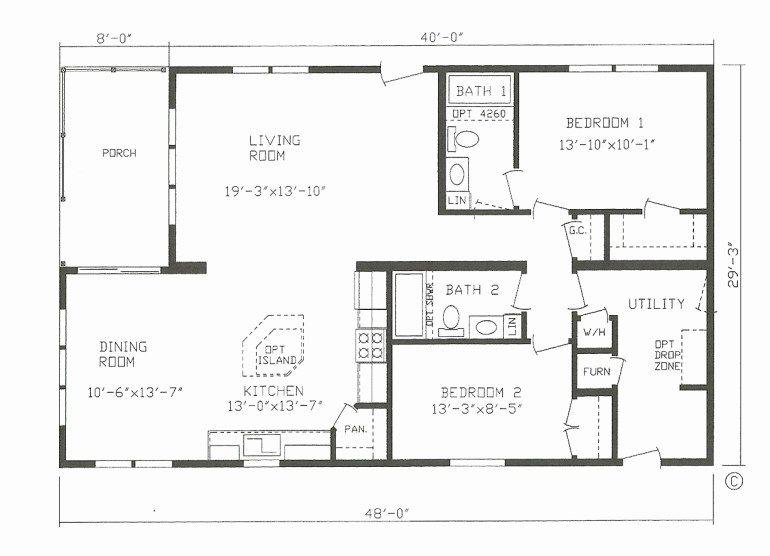 1 Bedroom 30x40 Barndominium Floor Plans Novocom Top