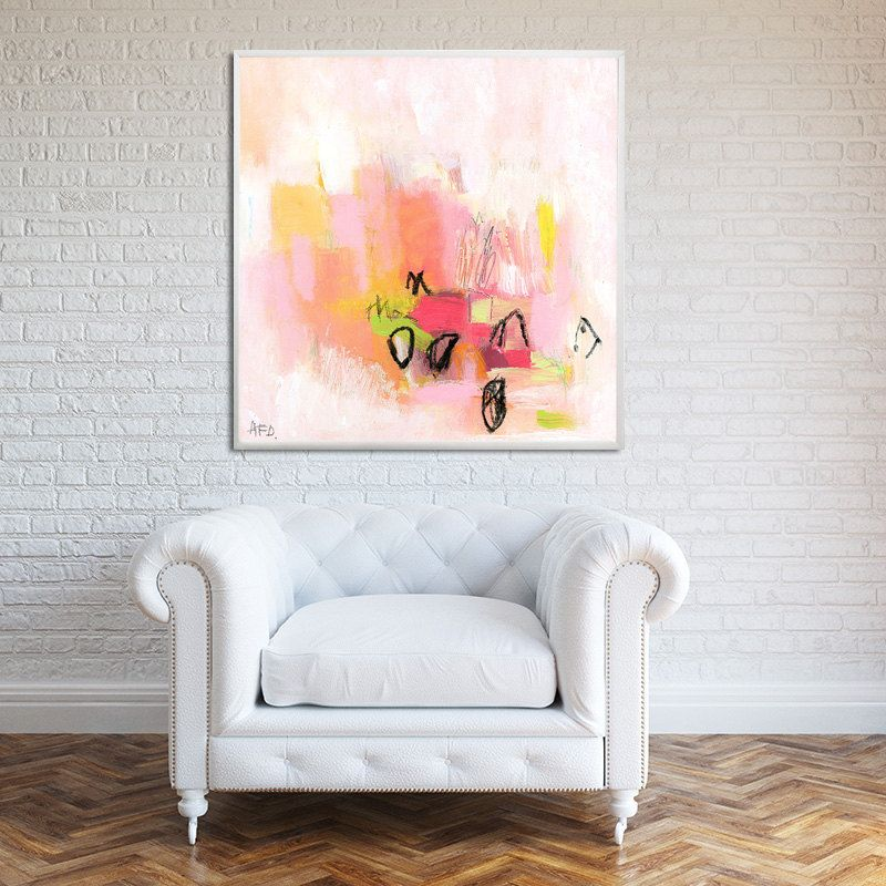 Canvas Wall Art Prints Abstract Art Print Large Canvas Art Etsy Pink Abstract Painting Abstract Canvas Painting Abstract Floral Paintings