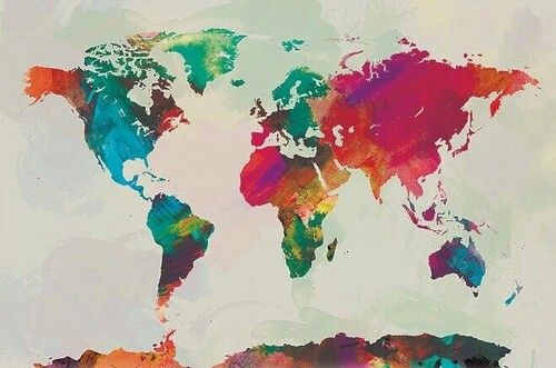 Watercolored world diy pinterest watercolor world map canvas print multiple color options on etsy fabric canvas inspiration gumiabroncs Choice Image