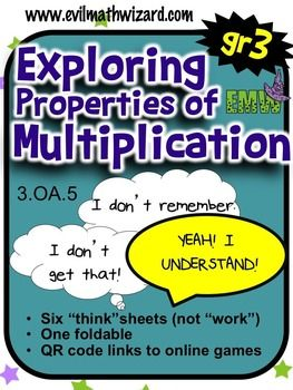 Properties Of Multiplication Worksheets  Pinterest  Multiplication  Do You Want Your Students To Understand How The Properties Of Multiplication  Work These  Think Sheets Step Them Through Each Process