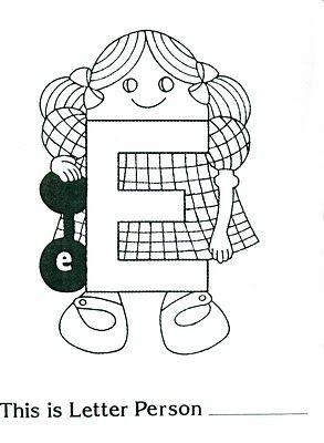 Letter People Actividad Echa Esta Semana Con Los Ninos De Primero Y Segundo Grado Letter People People Coloring Pages Preschool Letters