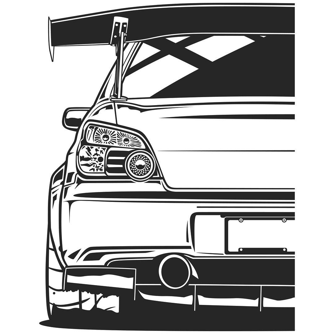 Subaru Impreza STI. T-shirts, Covers, Stickers, Posters