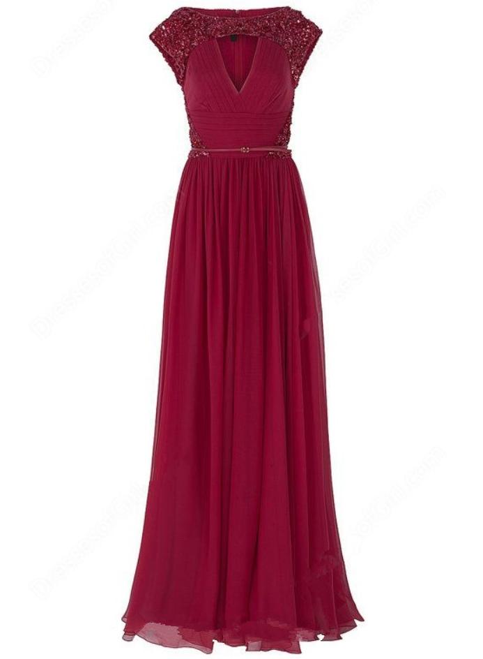 A-line Scoop Neck Chiffon Floor-length .. Chiffon Prom DressesBall ...