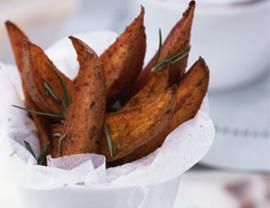 Sweet Potato Wedges with Rosemary