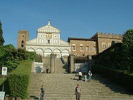 Facciata di San Miniato al Monte e Palazzo dei Vescovi