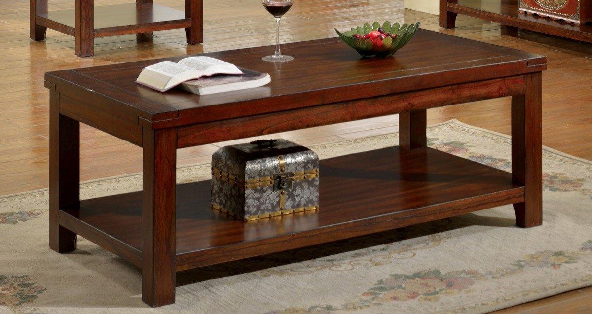 Furniture Of America Falco Open Shelf Coffee Table Dark Cherry & Furniture Of America Falco Open Shelf Coffee Table Dark Cherry ...