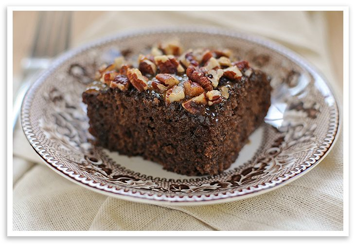 Praline Cake Squares, from She Wears Many Hats