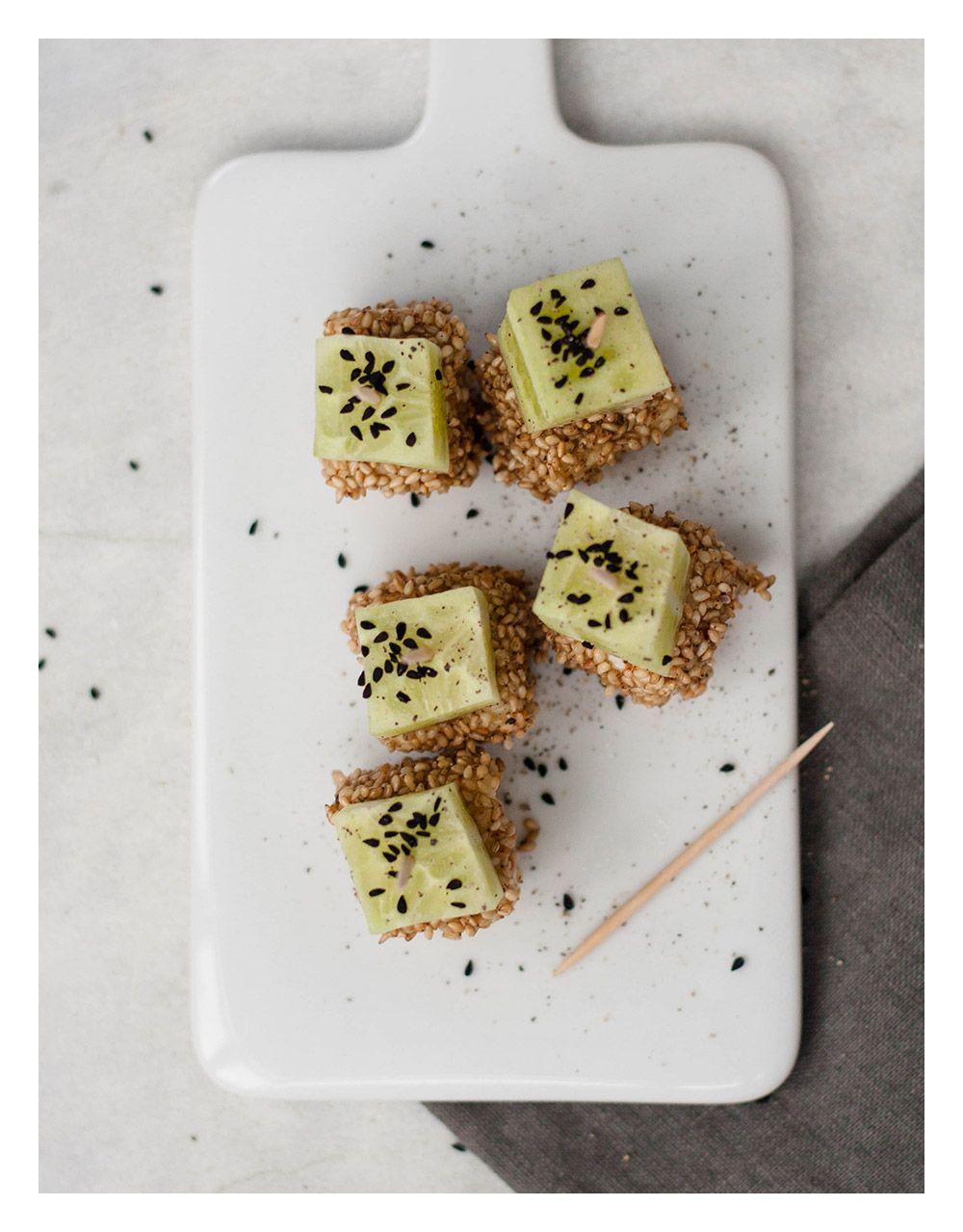 Sesam-Gurken-Appetizer | TheVeggieKitchn Blog