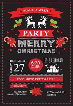 "Free Christmas Invitation Templates Celebration Symbols"" Printable Invitation Templatecustomize Add ."
