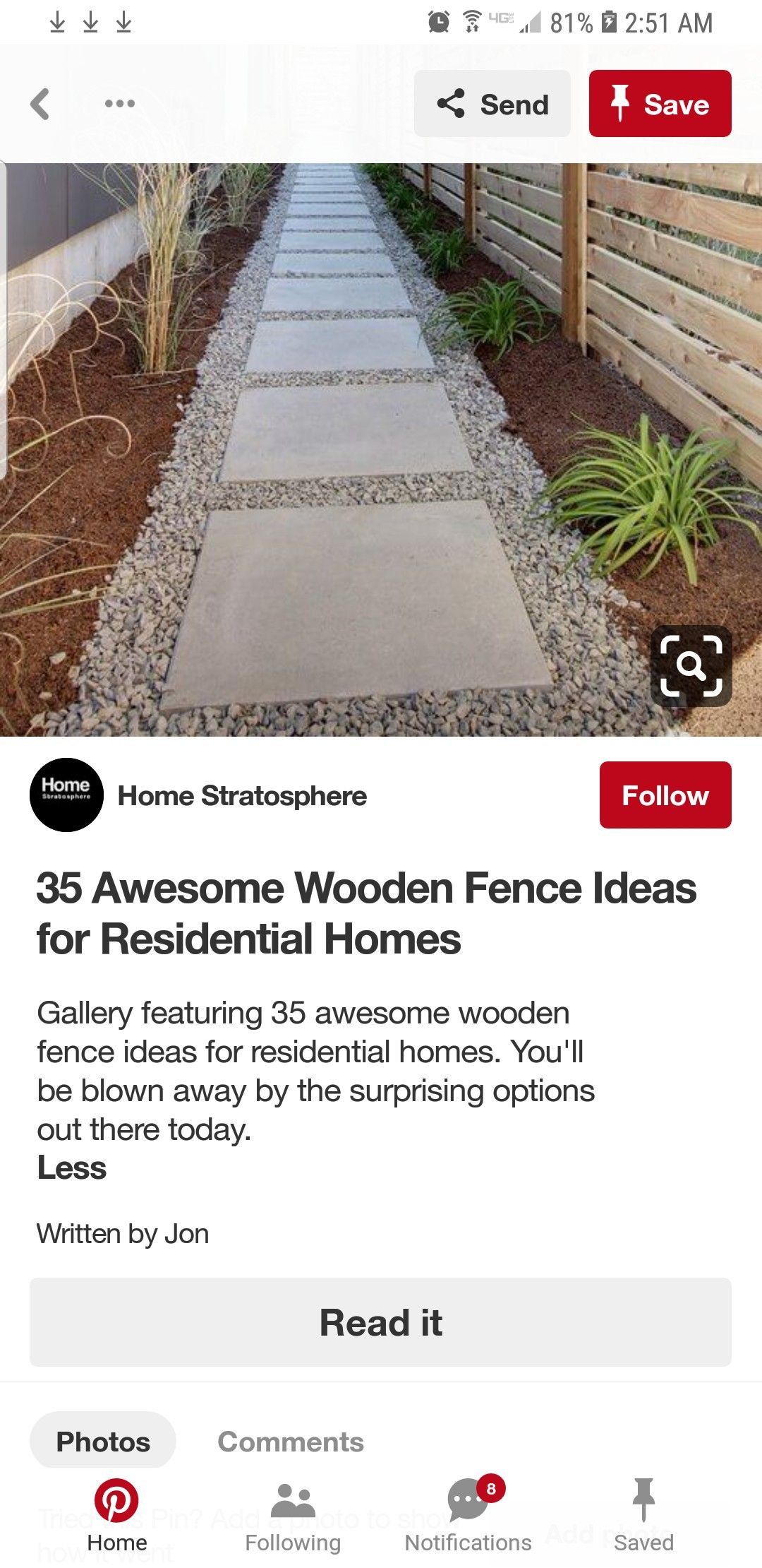 Pin by Nancy Baker on Good Ideas to Do Wooden fence