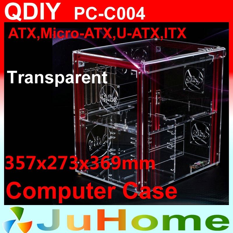 94.94$  Watch now - http://aliave.shopchina.info/go.php?t=766482029 - Luxury DIY horizontal transparent PC case, acrylic,  Support ATX, M-ATX, personalized fashion PC case, QDIY PC-C004 94.94$ #shopstyle