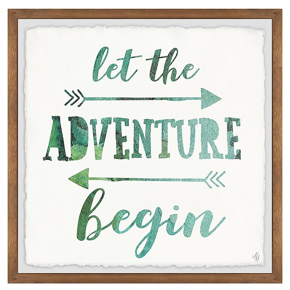 Marmont Hill Adventure Begin 32-Inch Squared Framed Wall Art