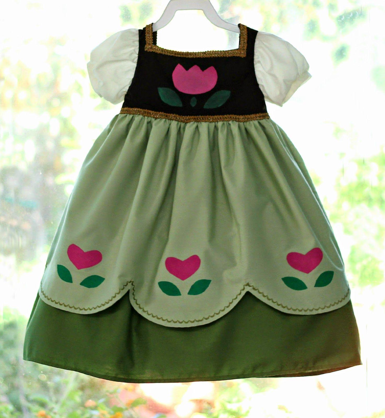 2c4275f28c1 Peaches and Bees  Disney Frozen s Little Anna Dress